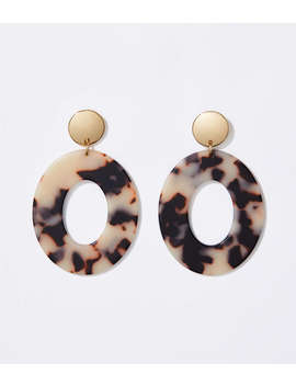 Tortoiseshell Print Ring Earrings by Loft
