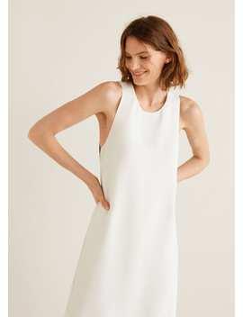 Gemustertes Kleid Mit Schleife by Mango