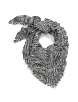 Ruffle Plaid Triangle Scarf by Nordstrom