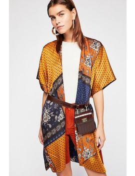 Mon Cheri Silky Patchwork Kimono by Free People