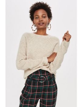 Super Soft Ribbed Sleeve Jumper by Topshop