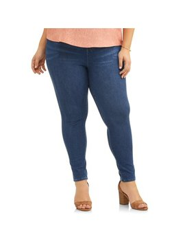 Women's Plus Size Full Length Super Soft Jegging by Terra & Sky