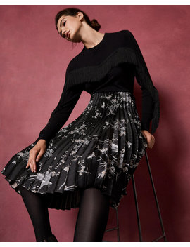The Orient Jacquard Pleat Skirt by Ted Baker