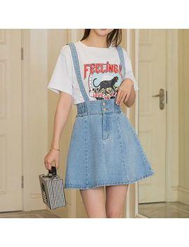 May Fair   Denim Suspender Skirt by May Fair