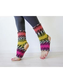 Skate Socks, Yoga Socks, Flip Flop Socks, Roller Skate Socks, Yoga Gift, Athletic Socks, Grip Socks, Boot Socks, Piyo Socks, Pilates Socks by Knit Knot Space