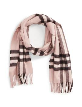 Heritage Giant Check Fringed Cashmere Muffler by Nordstrom