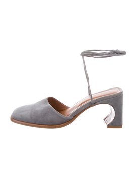 Suede Square Toe Mules by By Far