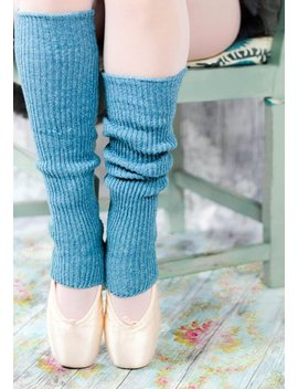 Dusky Blue Leg Warmers For Yoga, Pilates, Ballet, Dance, Workout, Gym   Handmade One Size Fits All Lambs Wool Boot Socks   Boho Legwarmers by Foot Fetish Socks