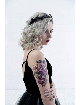 Black Tiara, Black Laurel Bridal Headband, Black Bridal Headpiece, Black Wedding Hairpiece, Black Laurel Leaf Crown, Laurel Wreath by Offbeatstyleshop