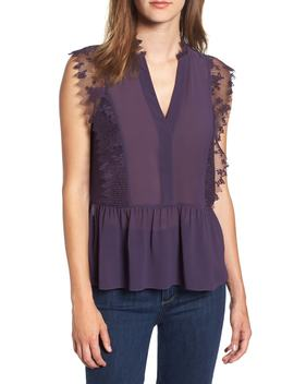 Lace Trim Top by Nordstrom