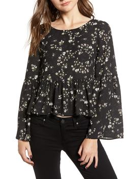Josephina Print Bell Sleeve Top by Nordstrom