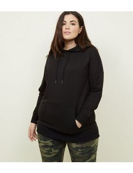 Curves Black Oversized Hoodie by New Look