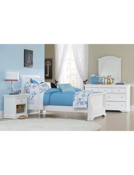 Ne Kids Walnut Street Riley Sleigh Bed   White by Ne Kids