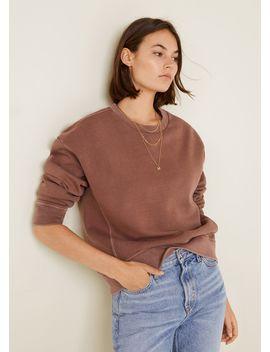 Sweatshirt Met Versleten Look by Mango
