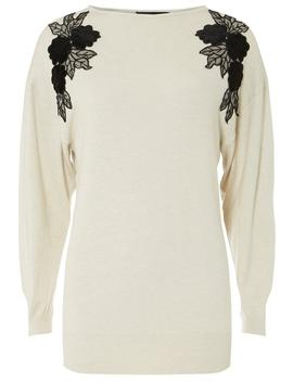 Oat Detail Batwing Jumper by Dorothy Perkins