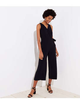 Cropped Wrap Jumpsuit by Loft