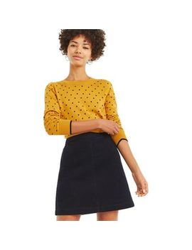 Oasis   Multi Yellow 'melissa' Heart Jumper by Oasis