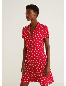 Φόρεμα πουκάμισο εμπριμέ by Mango