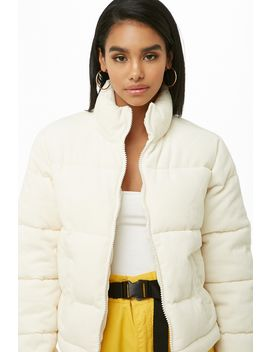 Corduroy Puffer Jacket by Forever 21