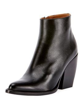 Rylee 90 Mm Block Heel Western Booties by Chloe