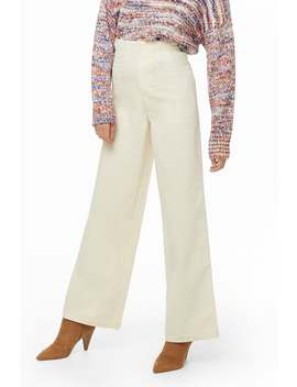 Corduroy High Waist Pants by Forever 21