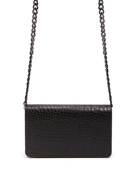 Faux Croc Leather Crossbody by Forever 21