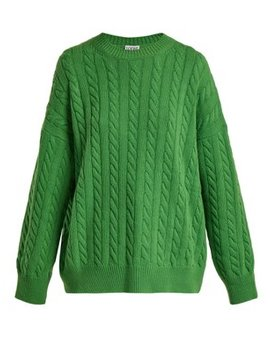 Cable Knit Wool Sweater by Loewe