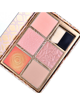 5 Colors Shimmer Matter Blush Professional Blusher Palette Bronzer Face Contour Powder Blush Palette Highlighter Make Up Pallete by Miss Kiki