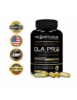 Cla Pro 2000 Mg Pure Premium Cla Safflower Oil Conjugated Linoleic Acid 120 Count Softgels High Potency Optimum Dosage Best Belly Fat Burner Weight Loss... by Prometheus Wellness Llc