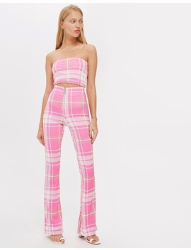 Bright Check Flares by Topshop