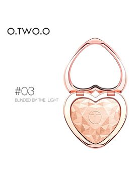 O.Two.O Shimmer Highlighter Powder Palette Face Contouring Makeup Highlight Face Bronzer Highlighter Brighten Skin 4 Colors  by O.Two.O