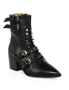 Lorna Leather Belted Booties by Iro