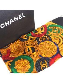 Vintage Chanel Nib Silk Bijoux Leo Excellent Large Shawl Scarf.Nfv4923 by Chanel