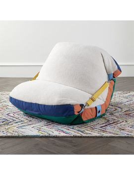 Fuzzy Adjustable Bean Bag Chair by Crate&Barrel