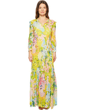 Flower Printed Creponne Maxi Dress by 6pm