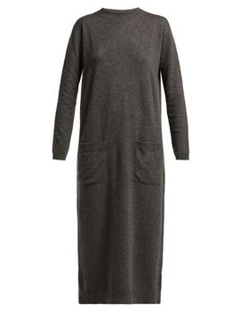 Pocket Front Cashmere Midi Dress by Raey