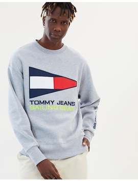 90s Sailing Logo Neon Crew by Tommy Jeans