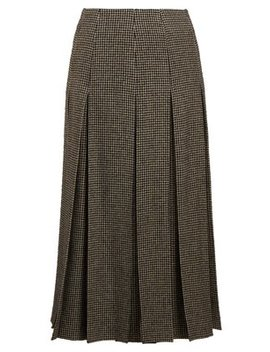 Odell Houndstooth Wool Blend Skirt by The Row