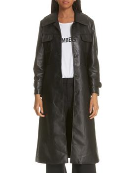 Leather Trench Coat by Nordstrom