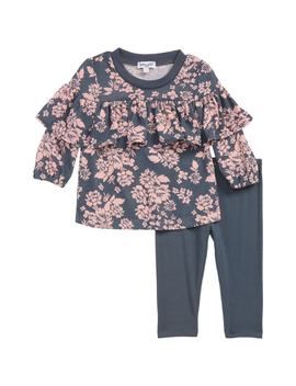 Floral Top & Leggings Set by Nordstrom