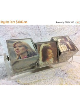 Fall Clearance Vintage 1974 Square Blocked Photo Display 3 D Photo Album Retro Kitsch Desk Decor Executive Gift by The Odd Owl