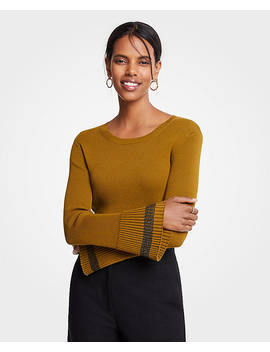 Ribbed Flare Sleeve Sweater by Ann Taylor