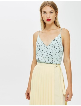 Scatter Spot Scallop Cami Top by Topshop