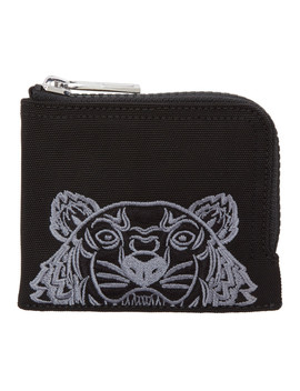 Black Tiger Zip Around Wallet by Kenzo