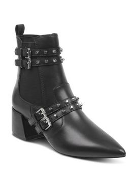 Women's Rad Pointed Toe Leather Booties by Kendall + Kylie