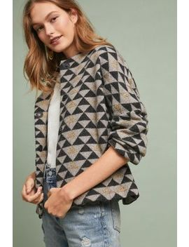 Geometric Sweater Cardigan by Sita Murt