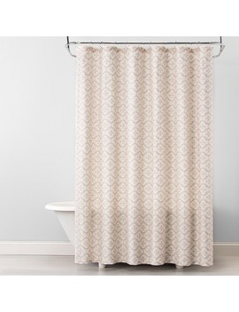 Plus Medallion Shower Curtain Beige Linen   Opalhouse™ by Opalhouse™