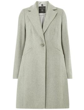 Grey Single Breasted Coat by Dorothy Perkins