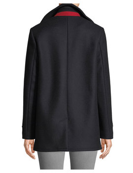 Nella Double Breasted Wool Pea Coat by Rag & Bone
