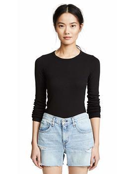 Splendid Women's 1 X1 Long Sleeve Crew T Shirt by Splendid Home